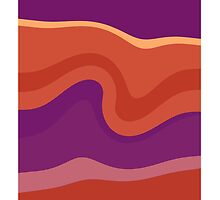Colorful retro waves seamless abstract by Nhan Ngo