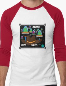 Aliens love hats. Men's Baseball ¾ T-Shirt
