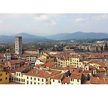 Lucca Aerial panoramic view with Piazza dell' Anfiteatro Photographic Print