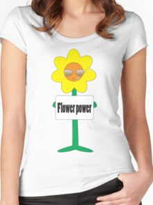 bad ass flower  Women's Fitted Scoop T-Shirt