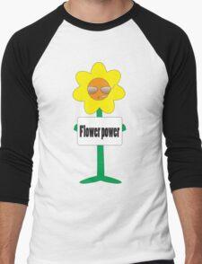 bad ass flower  Men's Baseball ¾ T-Shirt