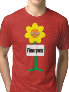 bad ass flower  Tri-blend T-Shirt
