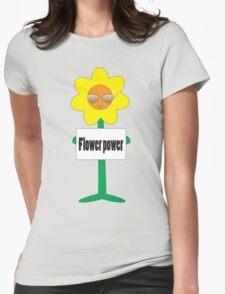 bad ass flower  Womens Fitted T-Shirt