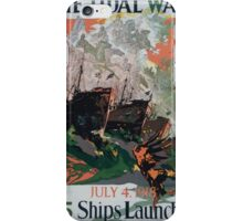 The tidal wave July 4 1918 95 ships launched 002 iPhone Case/Skin