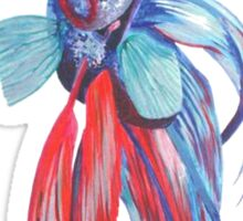 Siamese Fighting Fish Sticker