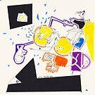 Night Drawings - Les Dessins de Nuit n°9 - Qui a volé Les 2 Deutschen Marke ?!!!! by Pascale Baud
