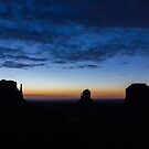 Monument Valley Silhouette by Philip Kearney