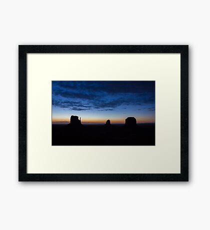 Monument Valley Silhouette Framed Print
