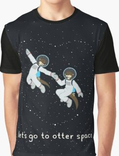 Let's Go to Otter Space Graphic T-Shirt
