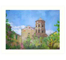 Chiesa di san Donato a Genova Art Print
