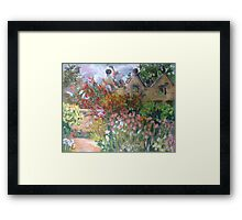 Herbaceous Border at East Riddlesden Hall Framed Print