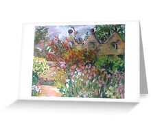 Herbaceous Border at East Riddlesden Hall Greeting Card