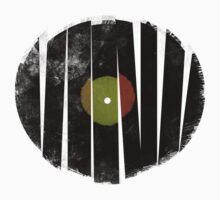 Cool Broken Vinyl Record Grunge Vintage T-shirt Design Kids Clothes