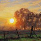 Sunrise Fence Line by Graham Gercken