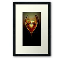 small world in a glass Framed Print