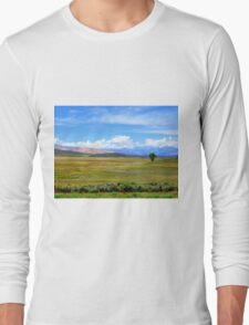 Drive by Tree...Outside Hailey, Idaho Long Sleeve T-Shirt