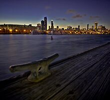 Chicago skyline and harbor by Sven Brogren