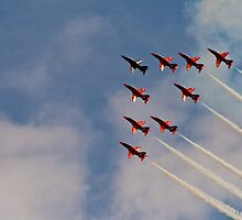 Red Arrows # 2 by Dale Rockell