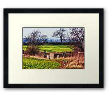 Farm Track and feeders Framed Print