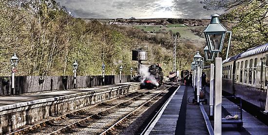 Looking Down The Platform by Trevor Kersley