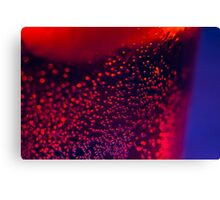 Abstract bubbles in a glass Canvas Print