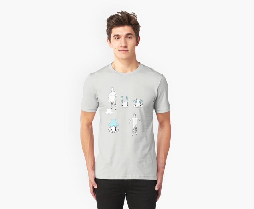 flat pack t-shirt  by IanByfordArt