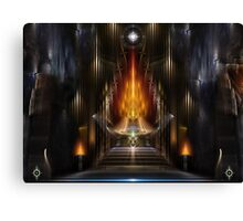 Temple Of Golden Fire Canvas Print