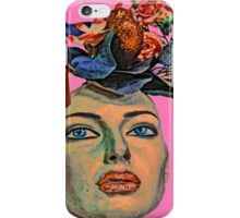 Face With Flowers #6a iPhone Case/Skin