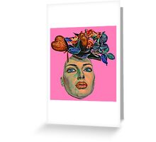 Face With Flowers #6a Greeting Card