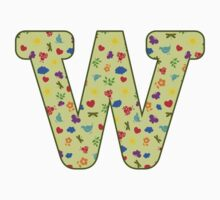 Spring pattern - Alphabet letter W Kids Clothes