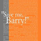 """""""Save me, Barry!"""" by Allison Imagining"""