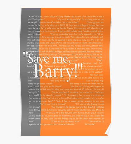 """Save me, Barry!"" Poster"