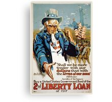 Buy a United States government bond of the 2nd Liberty Loan of 1917 002 Canvas Print