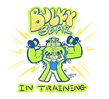 BULKY BEAR IN TRAINING Photographic Print