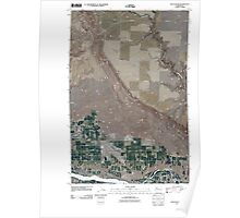 USGS Topo Map Washington State WA Rock Island 20110411 TM Poster