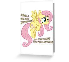 Fluttershy hug? Greeting Card