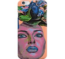 Face With Flowers #6b iPhone Case/Skin