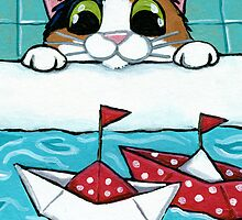 Paper Sail Boats by Lisa Marie Robinson