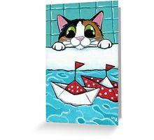 Paper Sail Boats Greeting Card