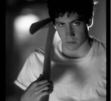 Donnie Darko (Black and White) by phoenixflicker