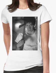 Donnie Darko (Black and White) Womens Fitted T-Shirt