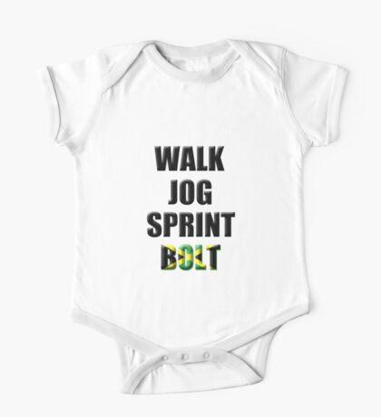 Walk, Jog, Sprint, BOLT! One Piece - Short Sleeve
