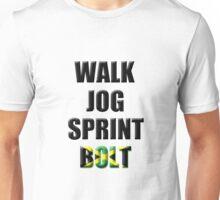 Walk, Jog, Sprint, BOLT! Unisex T-Shirt