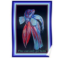 Fins Can Only Get Betta Poster