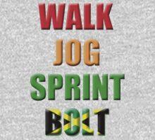 Walk, Jog, Sprint, BOLT!! Kids Clothes