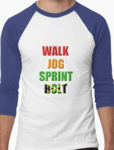 Walk, Jog, Sprint, BOLT!! Men's Baseball ¾ T-Shirt