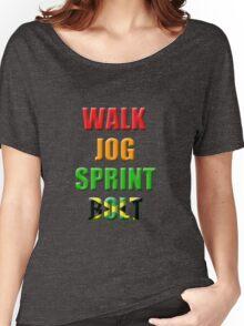Walk, Jog, Sprint, BOLT!! Women's Relaxed Fit T-Shirt