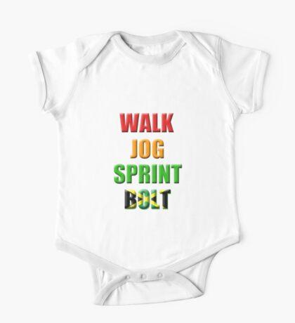 Walk, Jog, Sprint, BOLT!! One Piece - Short Sleeve