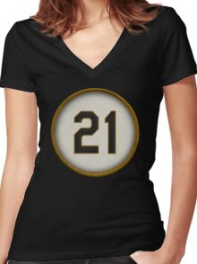 21 - Arriba Women's Fitted V-Neck T-Shirt