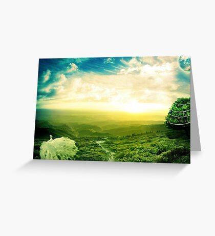 Beautiful fantasy scenery Greeting Card